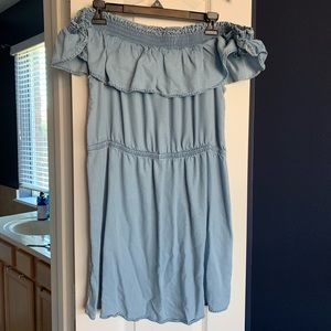 Chambray Off the Shoulder Sundress